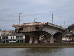 Pont Mathilde de Rouen découpé