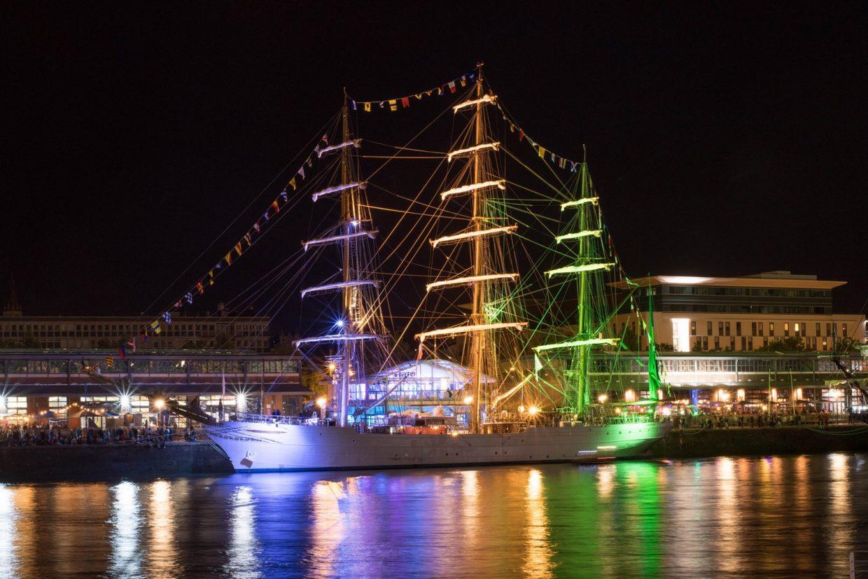 Le Cisne Branco, trois-mâts de la marine brésilienne à Rouen pour l'Armada 2019